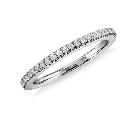 Pavé Diamond Wedding Ring in Platinum (1/6 ct. tw.)   Blue