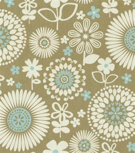 waverly home decor print fabric gemma latte jo