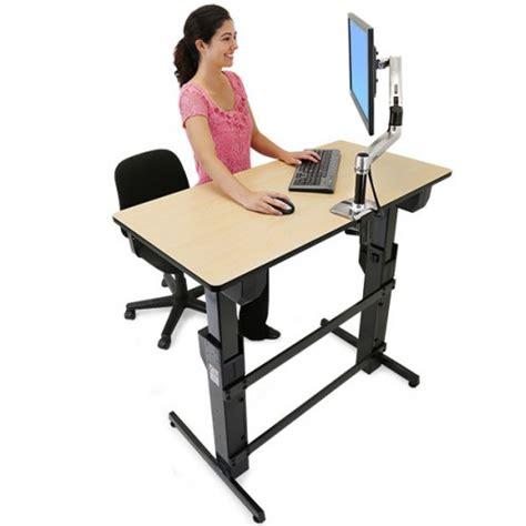 escritorios de pie escritorio workfit d para trabajar sentado y de pie
