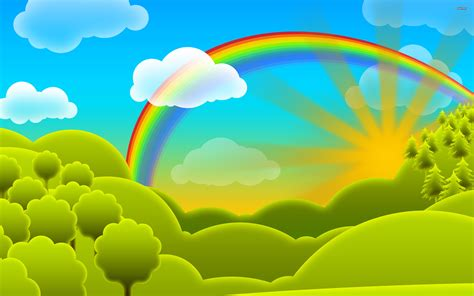 wallpaper rainbow cartoon rainbow vector cartoon wallpaper 2560 x 1600