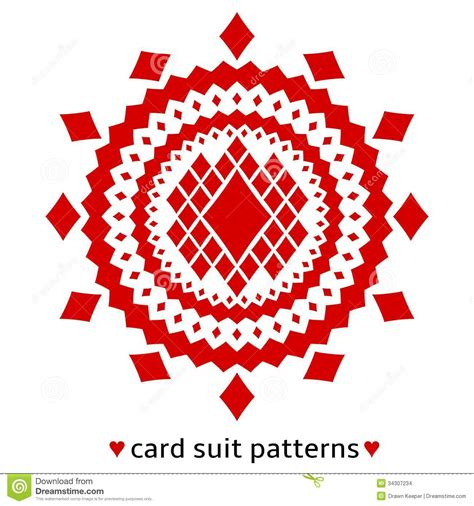 pattern card stock diamond card suit pattern stock vector image of gaming