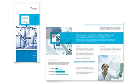 tri fold brochure template microsoft word science chemistry tri fold brochure template word