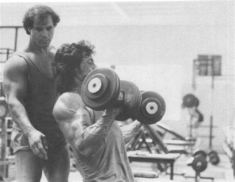 sylvester stallone bench press rock body fitness weight lifting exercises franco