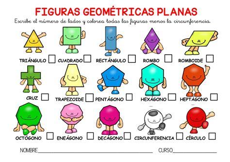 figuras geometricas no planas poster a3 y actividades para trabajar las figuras