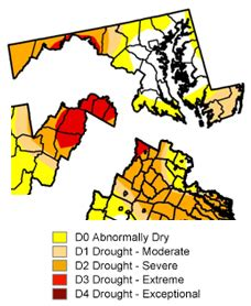 maryland drought map capital weather drought getting closer to d c area