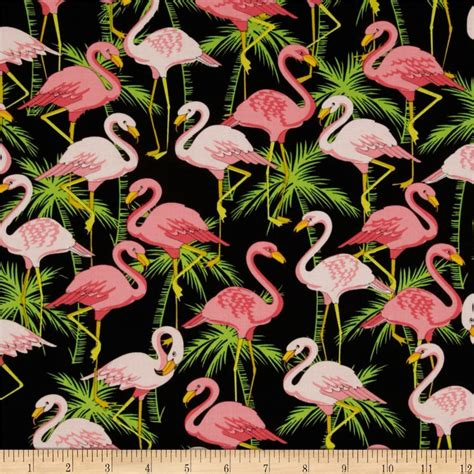 Flamingo Quilt Fabric by Object Moved