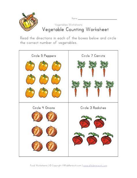 vegetables worksheet 6 best images of printable vegetable worksheets preschool counting worksheets free printables