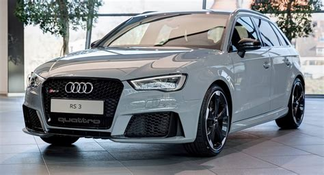 nardo gray rs3 sportback by audi exclusive on display at