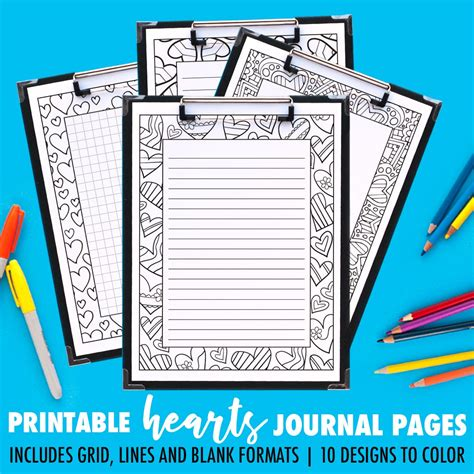 design journal blank printable coloring journal pages art therapy series a