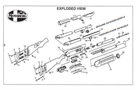 mossberg 500 parts diagram mossberg 500 835 590 shotgun owner s manual guide ebay