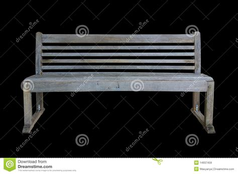 black park bench old park bench isolated on black royalty free stock images