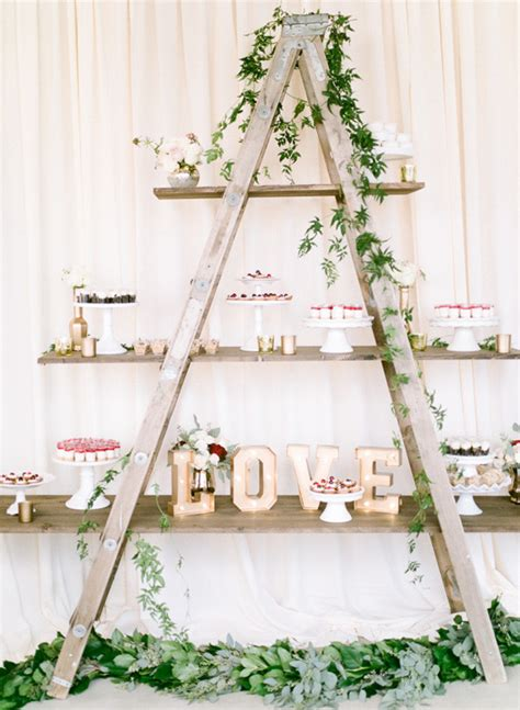 perfect wedding decoration ideas  vintage ladders   day