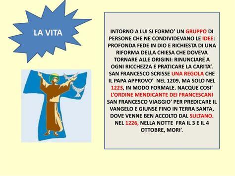cantico delle creature testo italiano per bambini ppt san francesco d assisi e il cantico delle creature