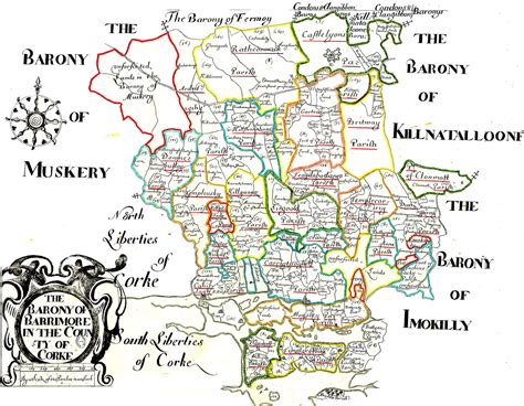county cork ireland map ireland barony maps county cork l brown collection