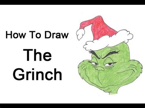 how to draw grinch youtube how to draw the grinch youtube
