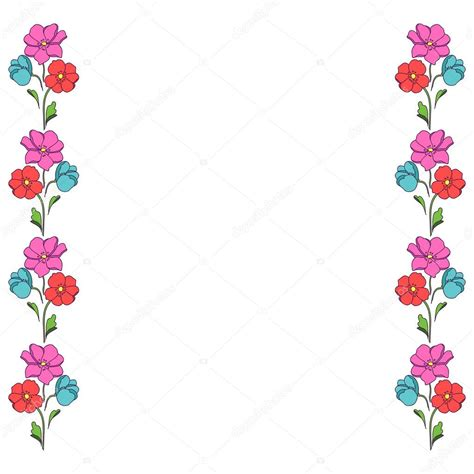 cornici fiori motivo colorato di fiori bordo cornice per foto