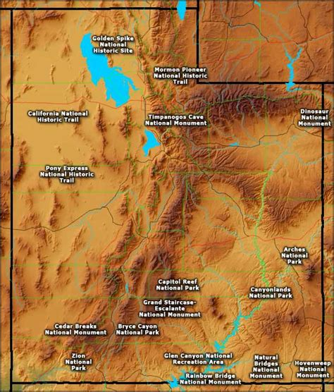 utah national parks map national park service in utah utah national park service