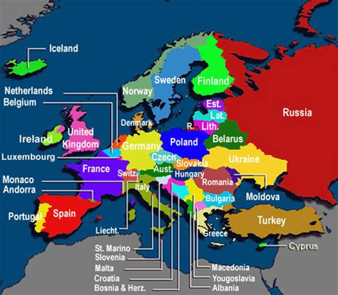europe map with country names and capitals europe capital map quiz