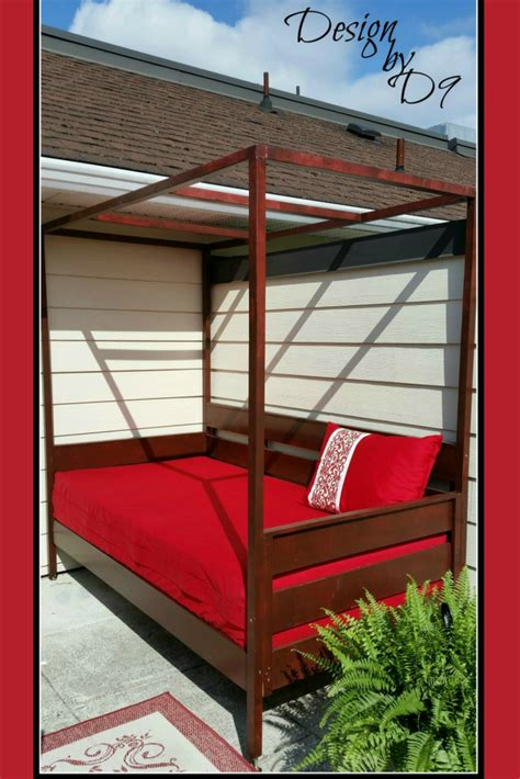 ana white outdoor daybed  canopy diy projects