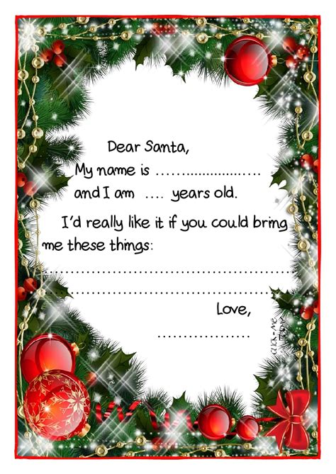 santa claus card template printable exle santa claus letter black white