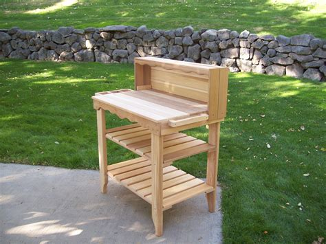potters benches deluxe potting bench