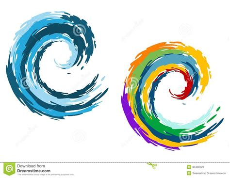 blue and colorful ocean waves royalty free stock images