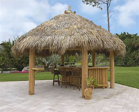 Outdoor Structures Select A Structure Tiki Huts Gazebos Backyard Tiki Hut