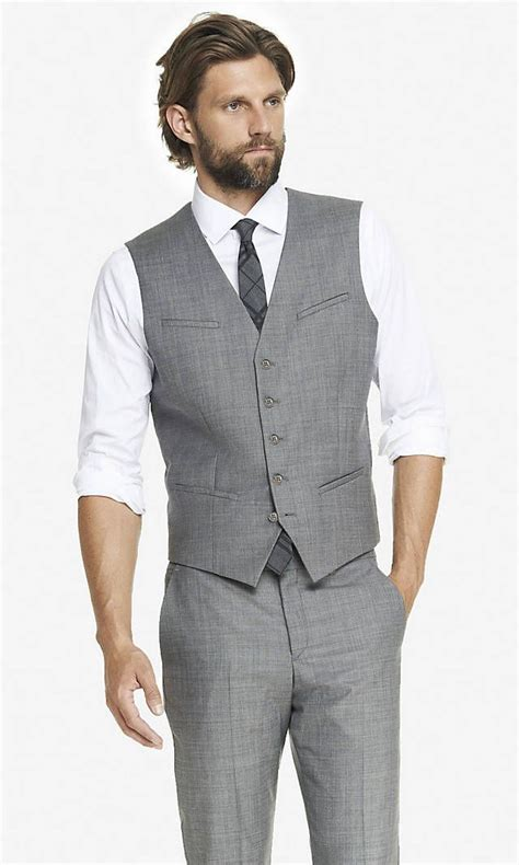 light grey vest and light grey vest for to wear could pair with any of