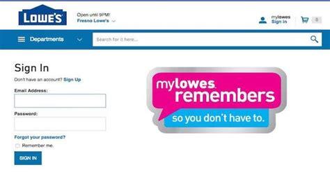 lowes login websites lowes