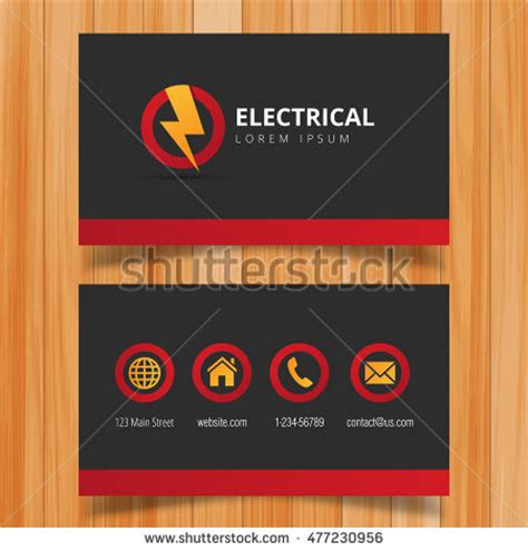 card templates electrician business card electrician vector images card design and
