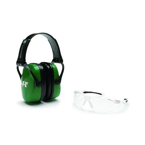 Howard Leight Shooting Combo Earmuffs Glasses Green R 01761 howard leight shooting combo safety kit