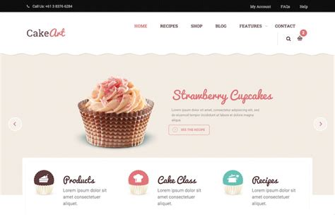 cake websites bakery cake theme cssreel css website