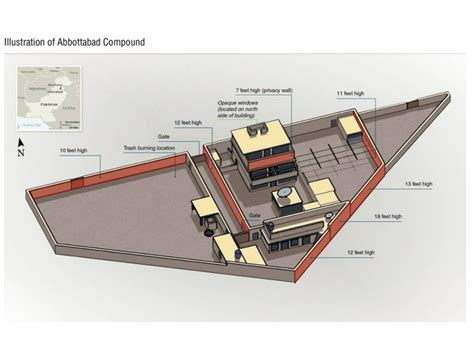 layout bin raid on osama bin laden compound in abbottabad pakistan