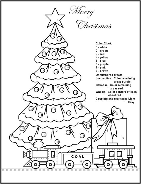 free holiday color by number coloring pages color by number christmas pages az coloring pages