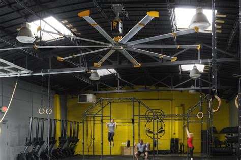 best fan for home gym large quiet hvls ceiling fans for specialty gyms yoga