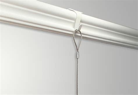 Hanger Gantungan Rail Gordyn 100cm stas moulding hook steel cable with loop zipper hook