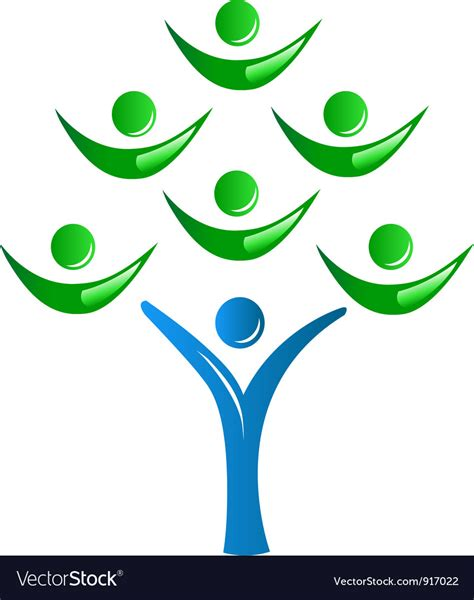 Teamwork As A Tree Logo Royalty Free Vector Image Teamwork Tree Logo Vector Stock Vector Illustration Of Ecology Leafs 34023988