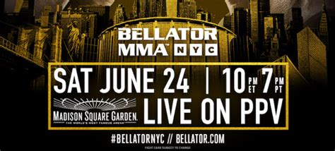 Who Is At Square Garden Tonight by Bellator Nyc Live From Square Garden Tonight