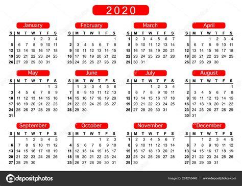 calendar  week starts sunday basic business template vector illustration stock vector