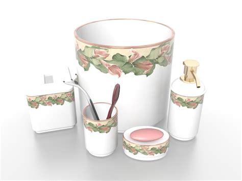 white porcelain bathroom accessories sets 3d model 3ds max