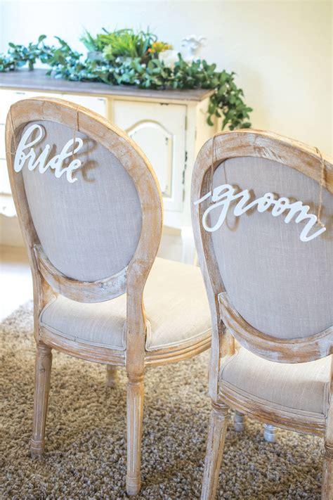 And Groom Chair by Groom Chair Signs Wood White Script