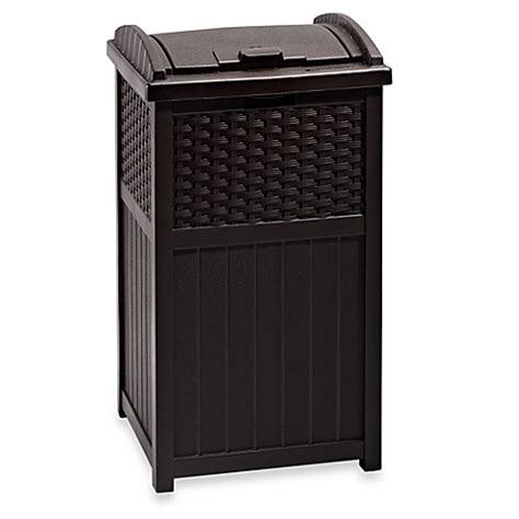 bed bath and beyond trash can resin wicker trash hideaway outdoor can bed bath beyond