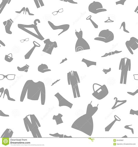 fashion vector background pattern fashion clothes shopping icons vector background seamless