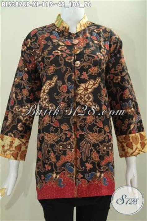 Baju Batik Perempuan Dewasa baju batik perempuan dewasa batik blus berkelas model pias depan kancing depan busana batik