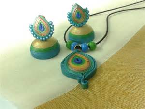 How To Make Paper Jewellery - paper earrings paper jewellery paper quilling