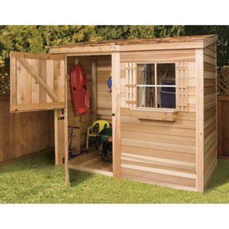 cedar shed    ft bayside wood storage shed walmartcom