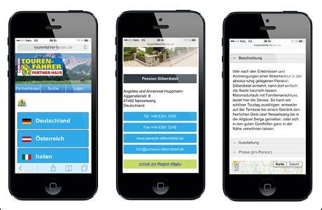 Motorrad Online Hotels by Tf Partnerhaus Web App Motorradfreundliche Hotels Auf Dem