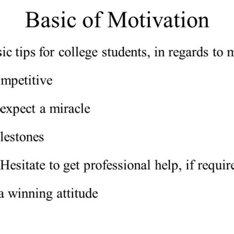 motivation tips for college students