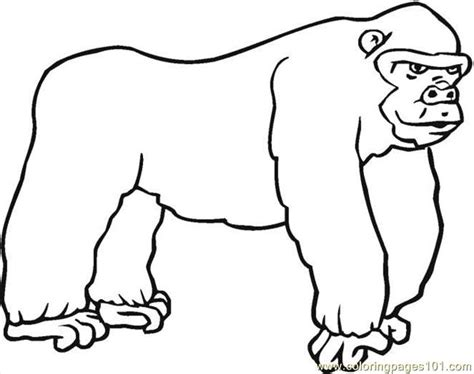 coloring page for gorilla gorilla coloring pages clipart panda free clipart images