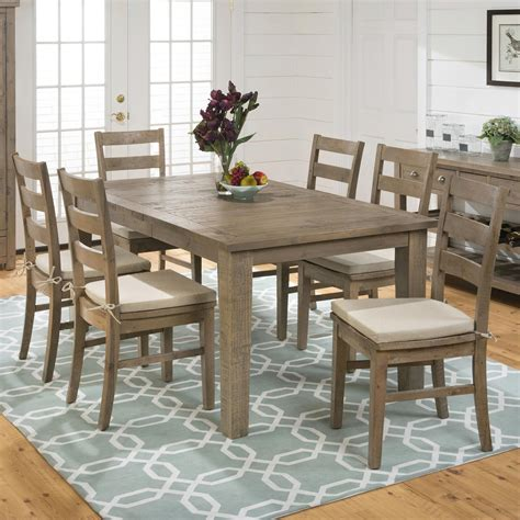 reclaimed wood dining set hton 7pc reclaimed wood dining set nader s